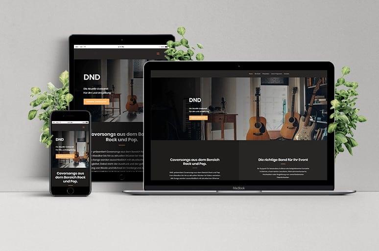 Webseite DND-Musik
