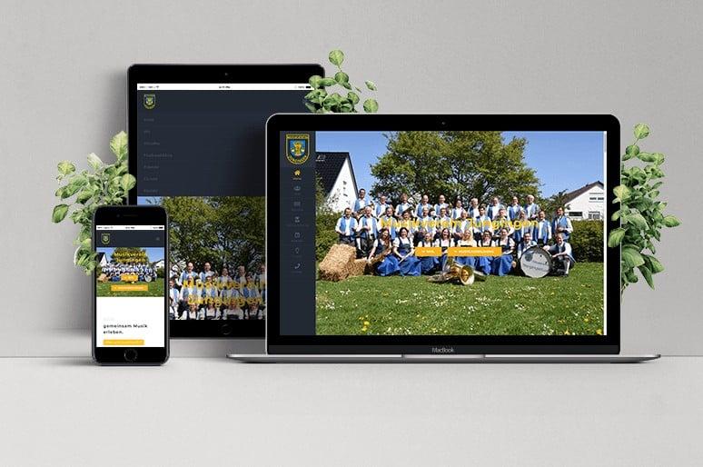 Webseite Musikverein Jungingen
